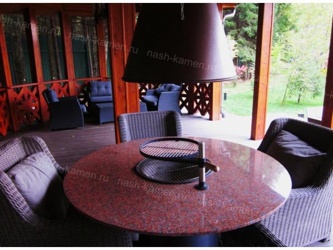 Гранитное барбекю вмонтированное в стол (гранит Нью Империал Ред)