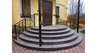 Лестница гранит Тан Браун