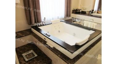 Столешница в ванную из мрамора Имперадор Дарк