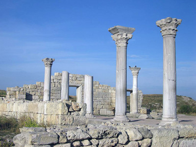 Античная архитектура из мрамора