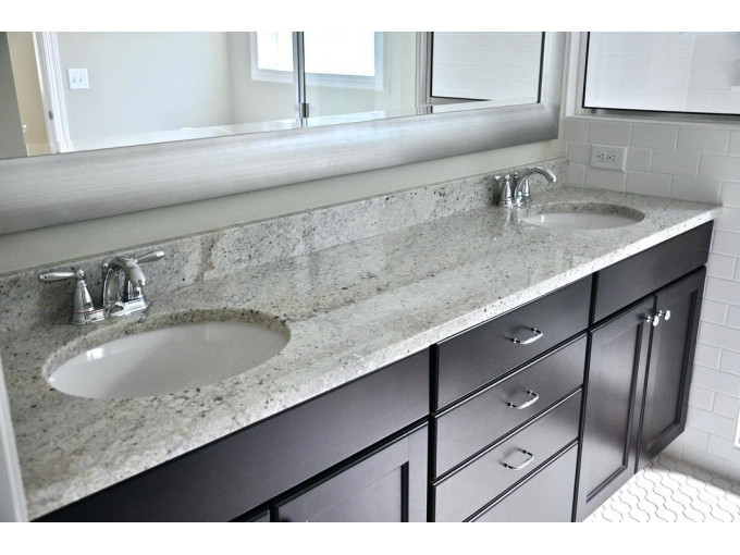 Столешница для ванной Bianco Romano