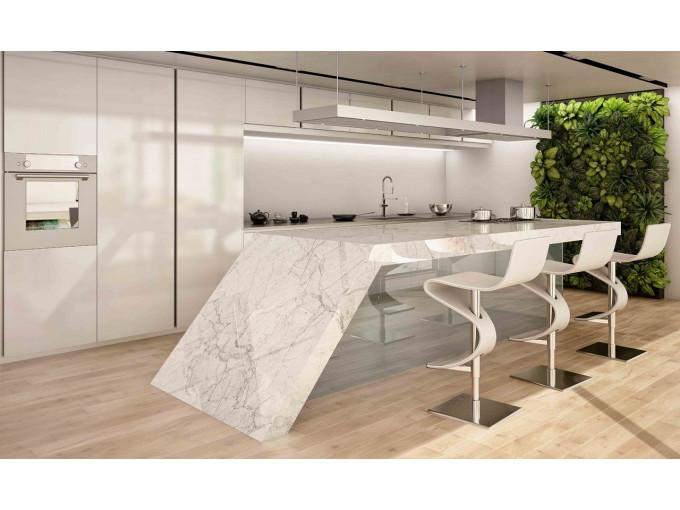 Барная стойка из натурального мрамора Bianco Carrara