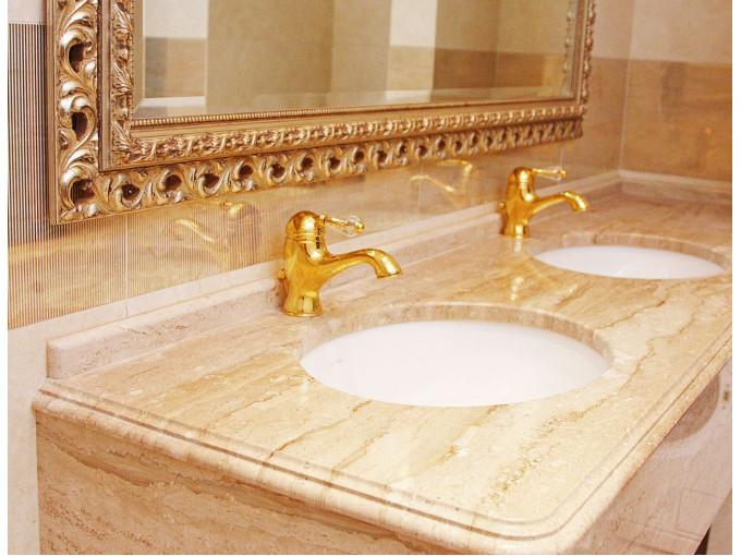 Столешница из мрамора Daino Reale для ванной комнаты