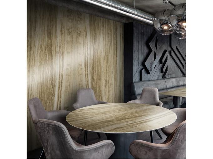 Обеденный стол из натурального травертина Ivory Vein