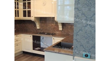Столешница для кухонного стола из гранита Шоколад Перл