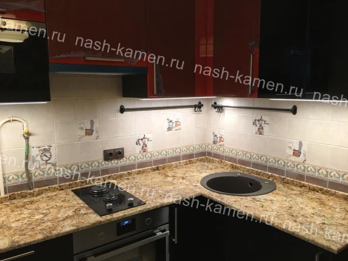 Гранитная кухонная поверхность