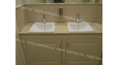 Столешница в ванную из кварца Plazastone